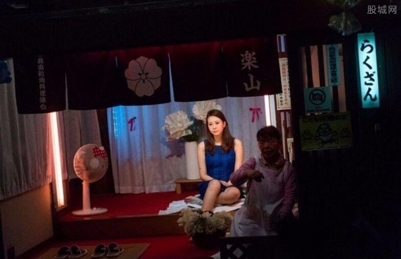 闯入日本红灯区偷拍照片