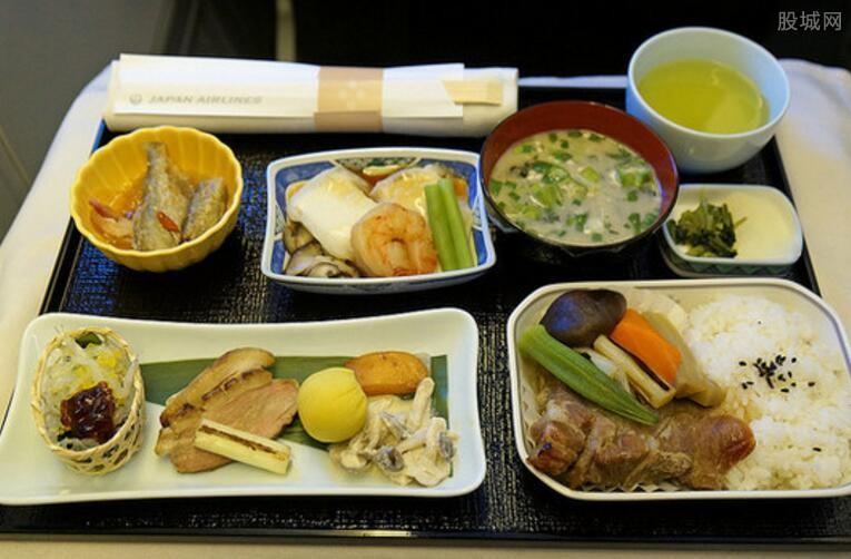 试吃乘客飞机餐