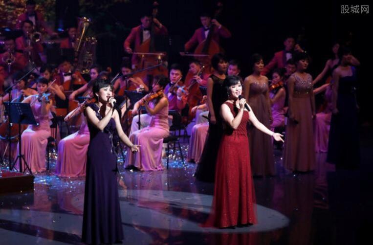 朝鲜艺术团演出