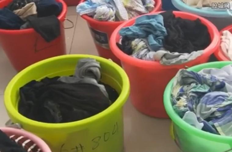 每天都要洗数十桶衣服