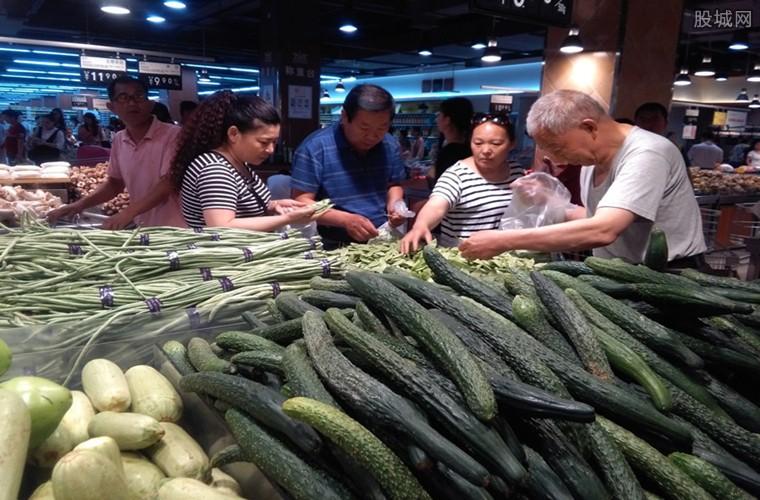 蔬菜价格下行市民狂购