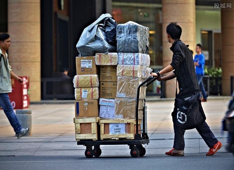 快递员送货量