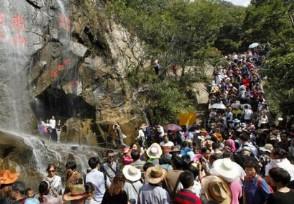 景区免费发一米帽 提醒游客需要保持距离